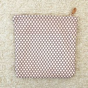Blush pink & rose gold clutch / makeup bag